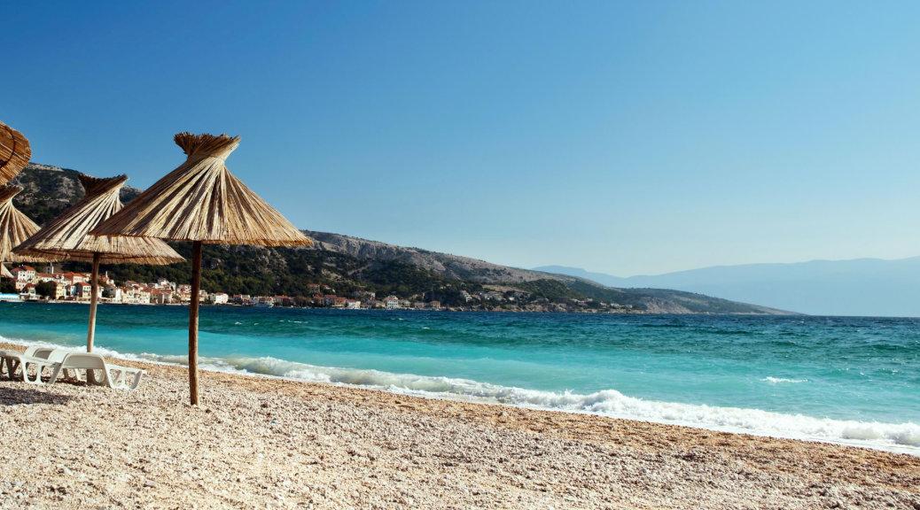 Beach on Krk island