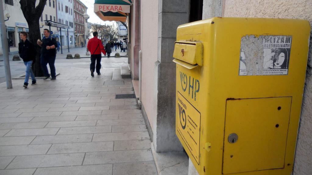 Croatian post office mailbox